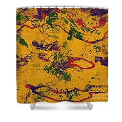 0859 Abstract Thought Shower Curtain by Chowdary V Arikatla