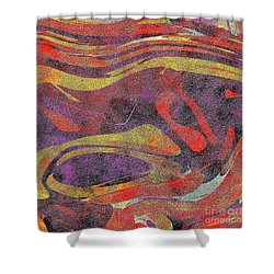 0906 Abstract Thought Shower Curtain by Chowdary V Arikatla