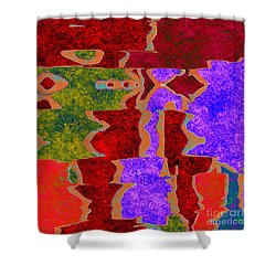 0322 Abstract Thought Shower Curtain by Chowdary V Arikatla