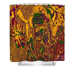 0478 Abstract Thought Shower Curtain by Chowdary V Arikatla