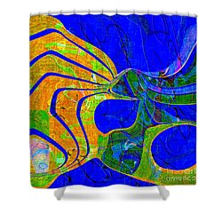 0565 Abstract Thought Shower Curtain by Chowdary V Arikatla