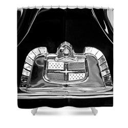1950 Lincoln Cosmopolitan Limousine Emblem Shower Curtain by Jill Reger