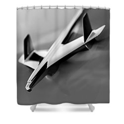 1955 Chevrolet Belair Nomad Hood Ornament Shower Curtain by Jill Reger