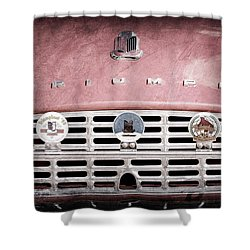 1960 Triumph Tr3 Grille Emblems Shower Curtain by Jill Reger