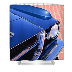 1962 Ghia L6.4 Coupe Grille Emblem Shower Curtain by Jill Reger