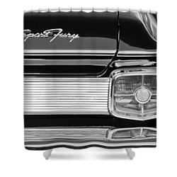 1963 Plymouth Sport Fury Taillight Emblem Shower Curtain by Jill Reger