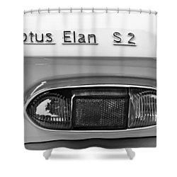 1965 Lotus Elan S2 Taillight Emblem Shower Curtain by Jill Reger