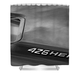 1971 Dodge Hemi Challenger Rt 426 Hemi Emblem Shower Curtain by Jill Reger