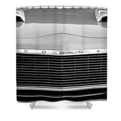 1975 Dodge Dart Swinger Grille Shower Curtain by Jill Reger