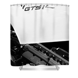 1998 Dodge Viper Gts-r Engine Shower Curtain by Jill Reger