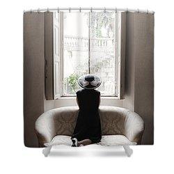40s Lady Shower Curtain by Joana Kruse