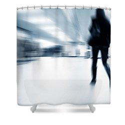A Person Lost In The Rush Shower Curtain by Michal Bednarek