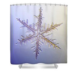 A Real Snowflake Showing The Classic Shower Curtain by Marion Owen