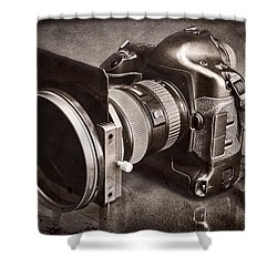 A Trusted Partner Shower Curtain by Jeff Burton