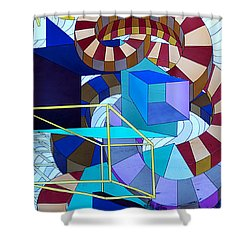 Abstract Art Stained Glass Shower Curtain by Mountain Dreams