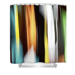 Abstract Shower Curtain by Tony Cordoza