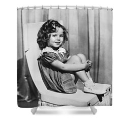Actress Shirley Temple Shower Curtain by Underwood Archives