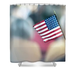 American Flag Shower Curtain by Alex Grichenko
