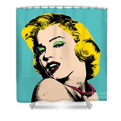 Andy Warhol Shower Curtain by Mark Ashkenazi