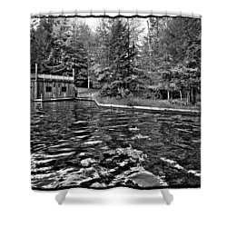 Arrowhead Park Waterway In Inlet New York Shower Curtain by David Patterson