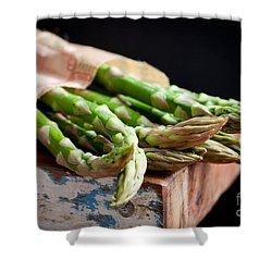 Asparagus Shower Curtain by Kati Molin