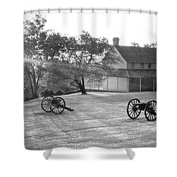 Battle Grounds Shower Curtain by David Troxel