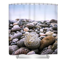 Beach Pebbles Shower Curtain by Elena Elisseeva