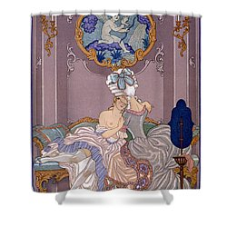 Bedroom Scene Shower Curtain by Georges Barbier