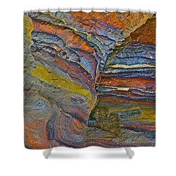 Belly Eyes Rock In Petra-jordan Shower Curtain by Ruth Hager