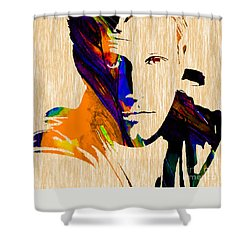 Ben Affleck Collection Shower Curtain by Marvin Blaine
