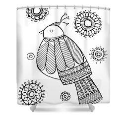 Bird Dove Shower Curtain by Neeti Goswami