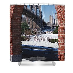 Bklyn Bridge Shower Curtain by Bruce Bain