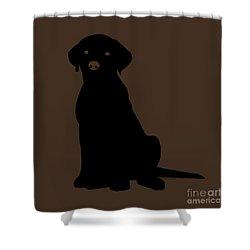 Black Labrador Shower Curtain by Elizabeth Harshman