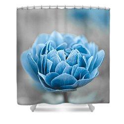Blue Flower Shower Curtain by Frank Tschakert