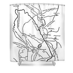 Boston-concord Map, 1775 Shower Curtain by Granger