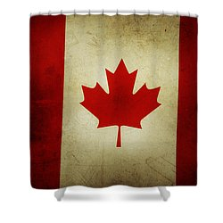 Canadian Flag  Shower Curtain by Les Cunliffe