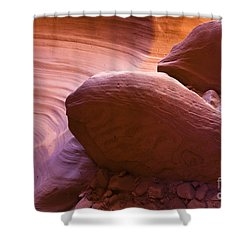 Canyon Rocks Shower Curtain by Bryan Keil