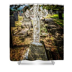 Celtic Cross Shower Curtain by Adrian Evans