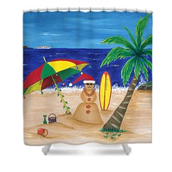 Christmas In Kona Shower Curtain by Pamela Allegretto
