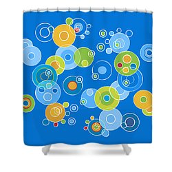 Colorful Circles Shower Curtain by Frank Tschakert