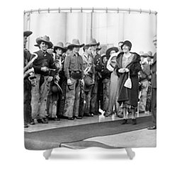 Cowboy Band, 1929 Shower Curtain by Granger