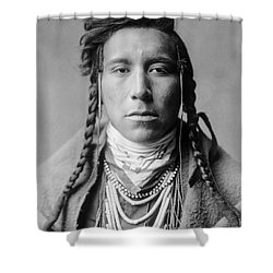 Crow Indian Man Circa 1908 Shower Curtain by Aged Pixel