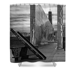 Dawn At The Empty Sky Memorial Shower Curtain by Susan Candelario