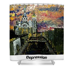 Depression  Shower Curtain by Mark Moore