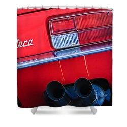 Detomaso Pantera Taillight Emblem Shower Curtain by Jill Reger