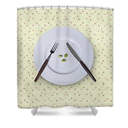 Diet Shower Curtain by Joana Kruse