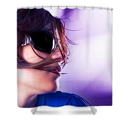 Disco Girl Shower Curtain by Michal Bednarek
