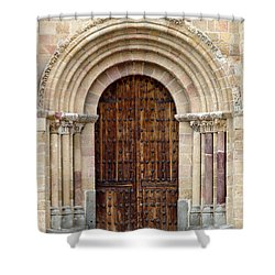 Door Shower Curtain by Frank Tschakert