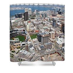 Downtown San Diego Shower Curtain by Bill Cobb