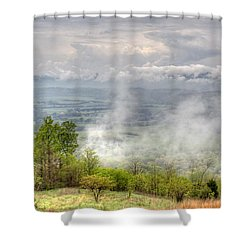 Dunlap Valley Shower Curtain by David Troxel
